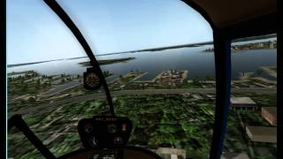 X-Plane10 のヘリコプター Robinson R22 Beta II