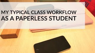 My Typical Class Workflow as a Paperless Student