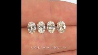 comparing oval cut diamonds 1 00 1 10 ct g h i color si clarity