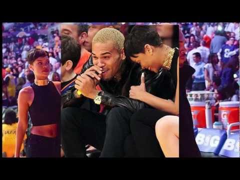 Rihanna and Chris Brown together @ Lakers Game on christmas
