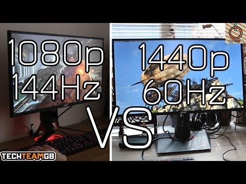 1080p 144Hz VS 1440p 60Hz | Tech FAQs