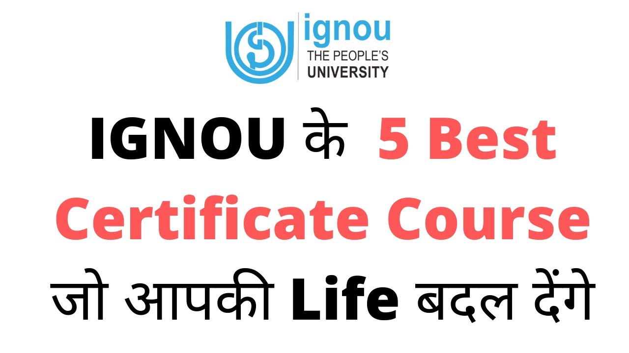 Ignou Certificate Course List 2020 Ignou News