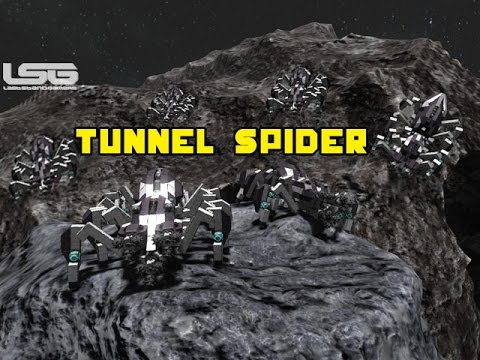 Space Engineers - Tunnel Spider, 8 Legged Mining Machine