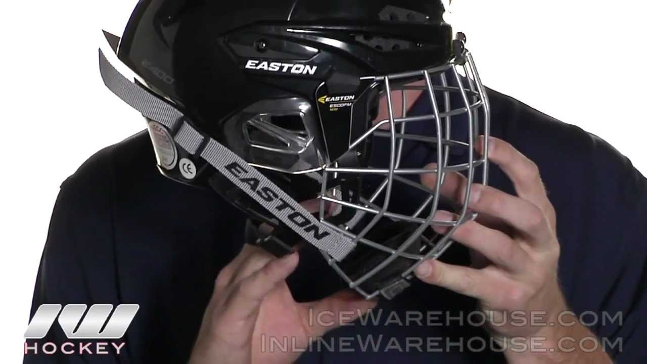 e3421a82dc9 Easton E400 Hockey Helmets - YouTube