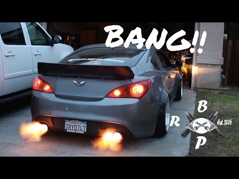 FLAME THROWING GENESIS COUPE!