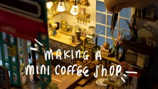 Making A Cozy Miniature Coffee Shop with Jazz Christmas Music for Stress Relief and Deep Sleep 解压咖啡屋