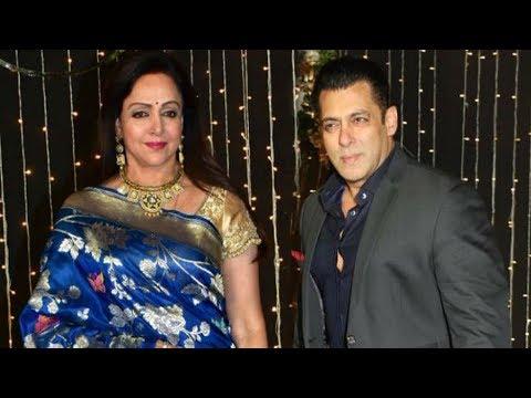 Hema Malini And Salman Khan At Priyanka Chopra Nick Jonas Mumbai Reception 2018