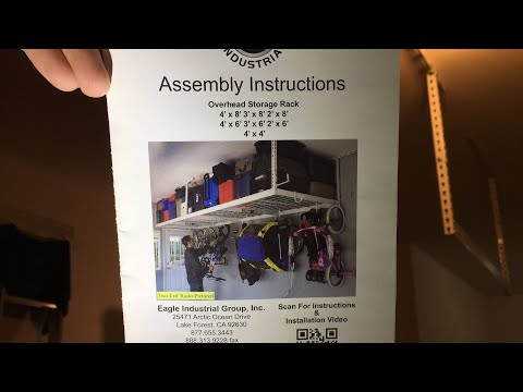 install and assembly of a garage rack saferacks overhead garage storage