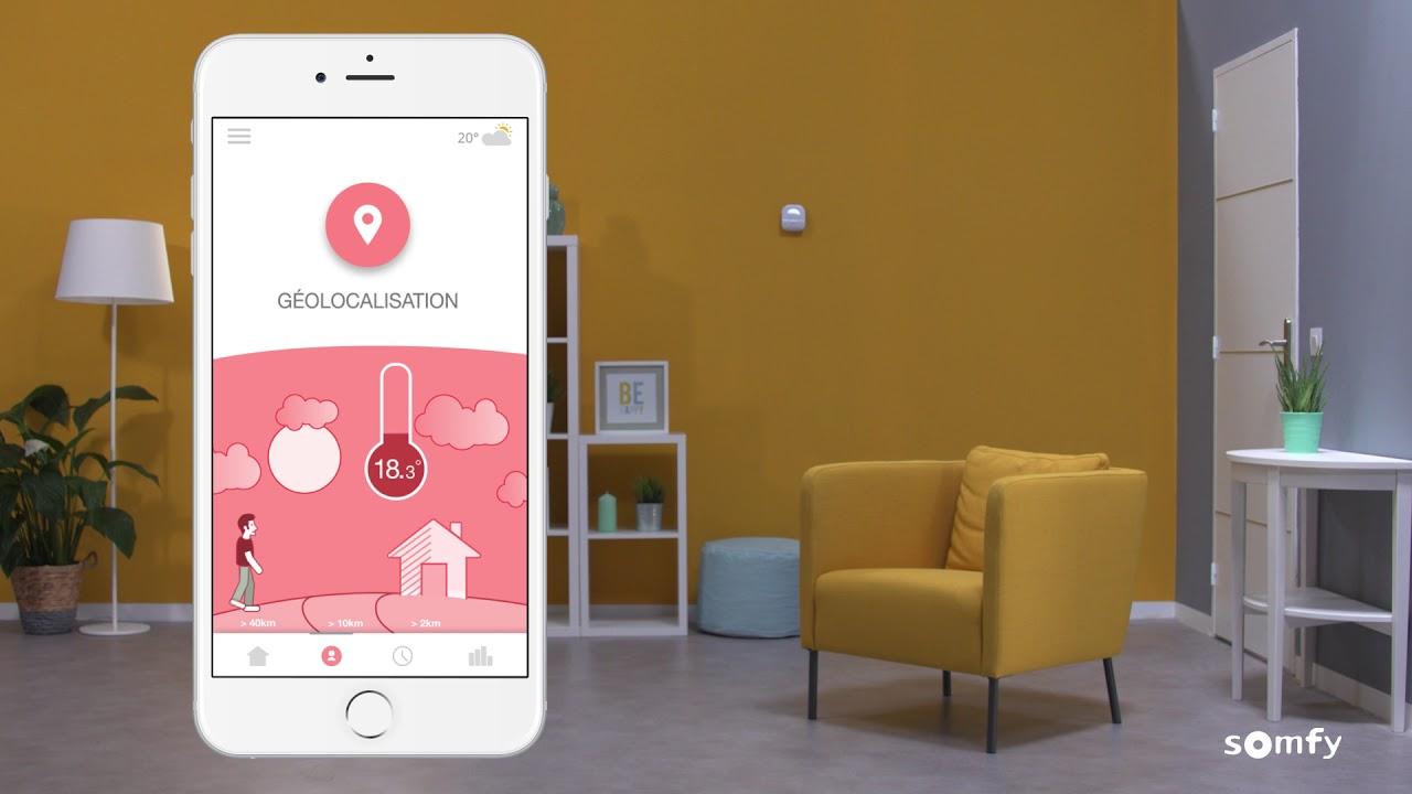 gardez l 39 esprit libre avec le thermostat connect somfy. Black Bedroom Furniture Sets. Home Design Ideas