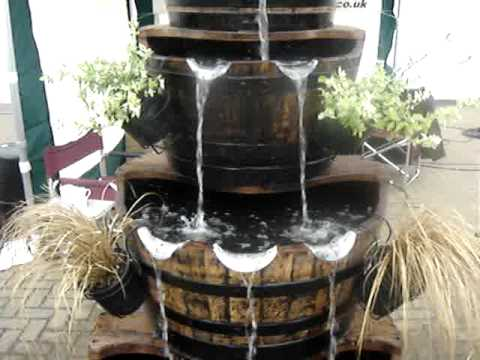 4 Tier Oak Barrel Water Feature By Yorkshire Water