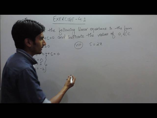 chapter 4 Ex 4.1 q 2 (vii,viii) - Linear Equations in Two Variables class 9 maths ncert solutions