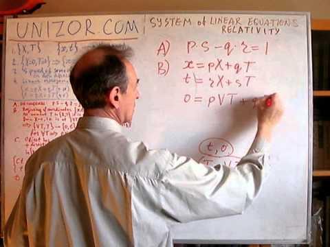 Unizor - Algebra - Special Relativity
