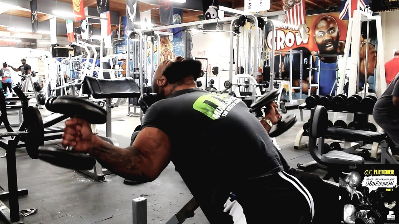 ct fletcher demonstrates t curls a bicep exercise from