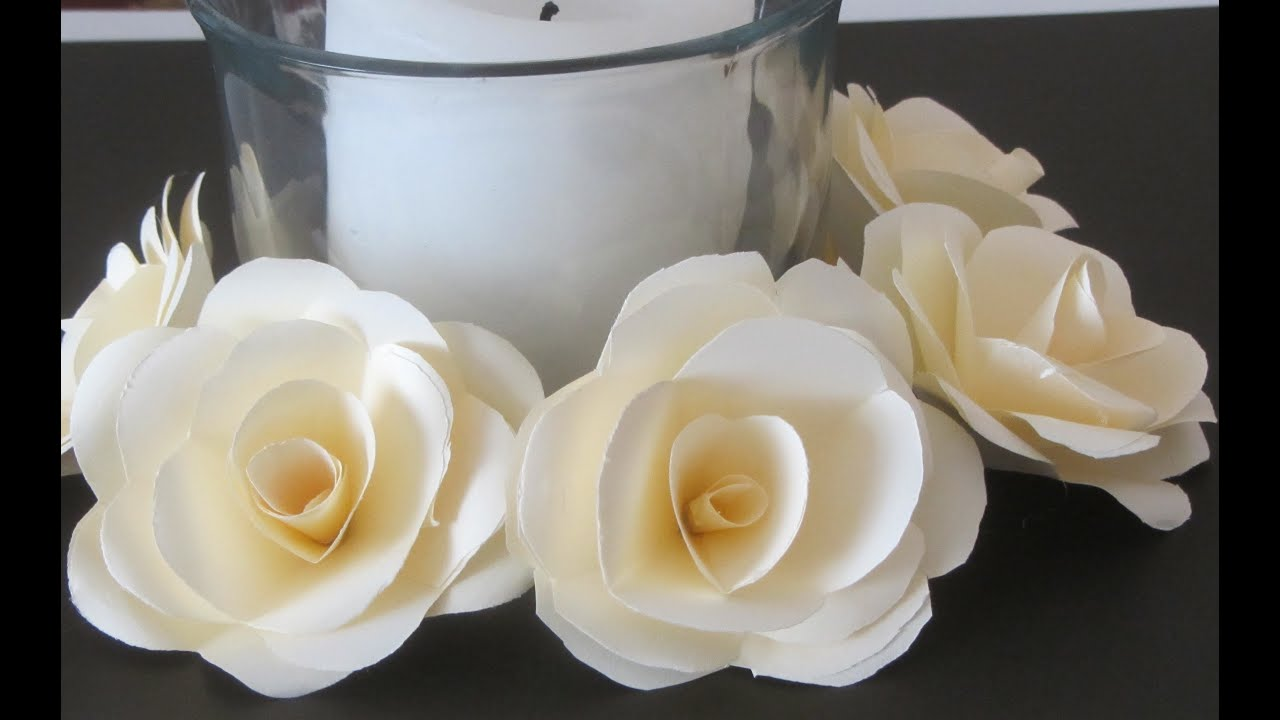 How To Make Paper Roses Crafts With Paper Tutorial Youtube