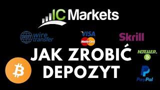 Jak zrobić depozyt w IC Markets - BITCOIN, karta, przelew, Neteller, PayPal, Skrill, inne