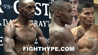 WEIGH-IN: DEVON ALEXANDER CHISELED, IN AMAZING SHAPE AFTER 2-YEAR LAYOFF; STARES DOWN CASTILLO