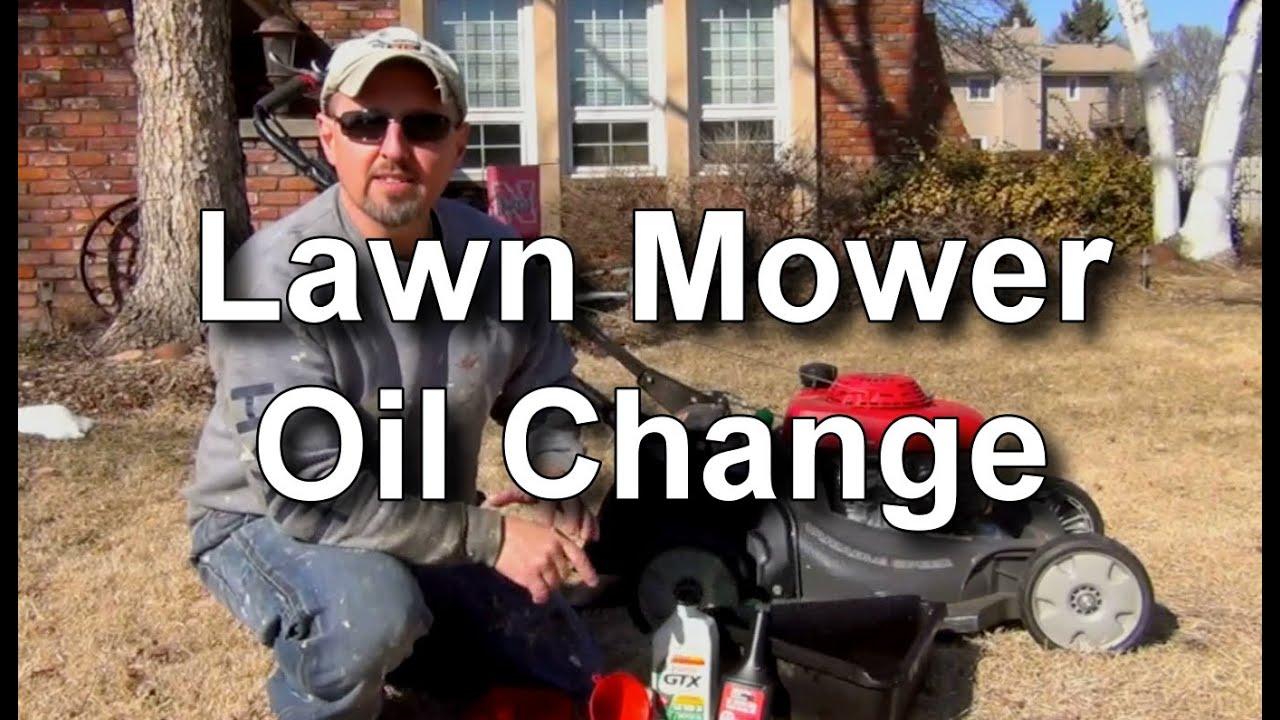 change  oil   honda lawn mower youtube