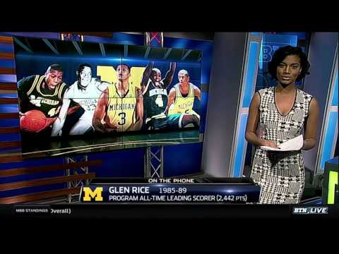 Glen Rice Talks Michigan All-Time Starting Five