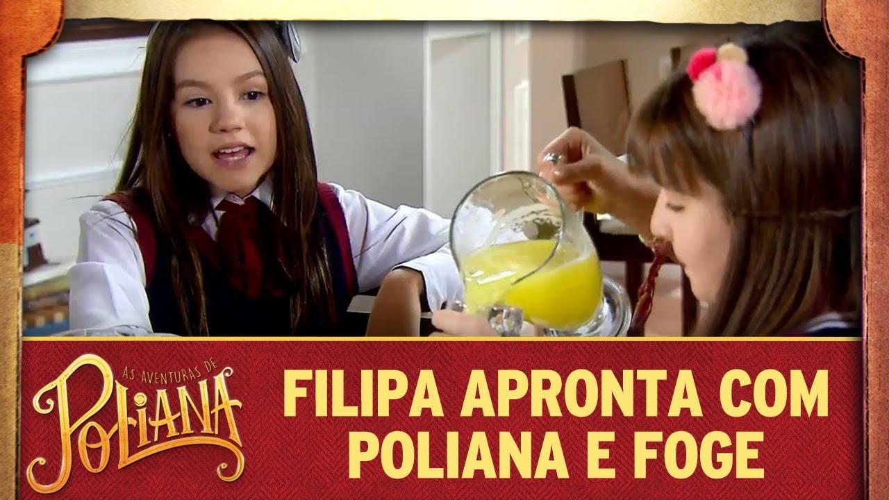 Filipa apronta com Poliana e foge | As Aventuras de Poliana