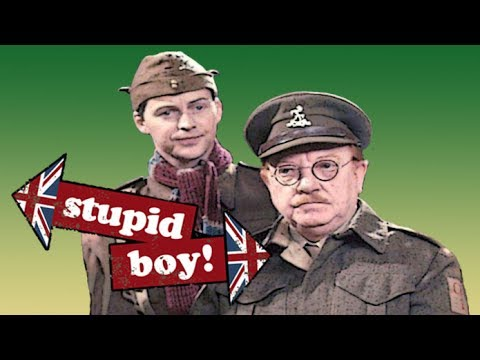 Image result for dads army stupid boy