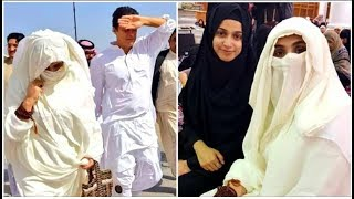 Noor Bukhari with Imran Khan and Bushra Bibi Performing Umrah