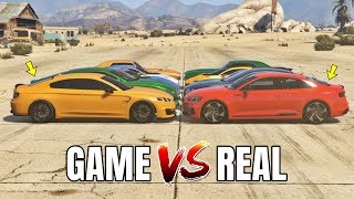 GTA 5 ONLINE - GTA 5 CARS VS REAL LIFE CARS (WHICH IS FASTEST?) (CASINO DLC CARS VS REAL LIFE CARS)