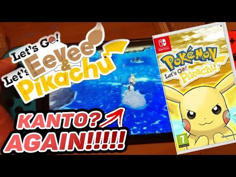 Pokemon Lets Go Pikachu And Pokemon Lets Go Eevee, Kanto Region Again?!  Thoughts On Pokemon Switch?