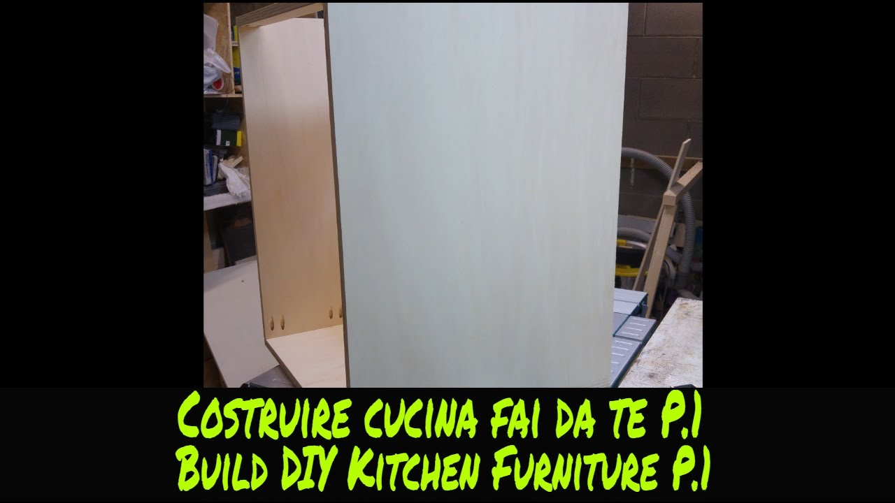 Tutorial costruire una cucina fai da te p 1 tutorial how to build a d i y kitchen cabinets p 1 for Cucina in muratura fai da te