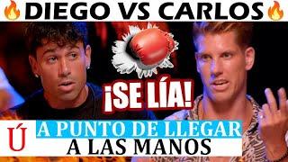 Diego se vuelve loco y quiere pєgαr a Carlos en su hoguera en La isla de las tentaciones 3