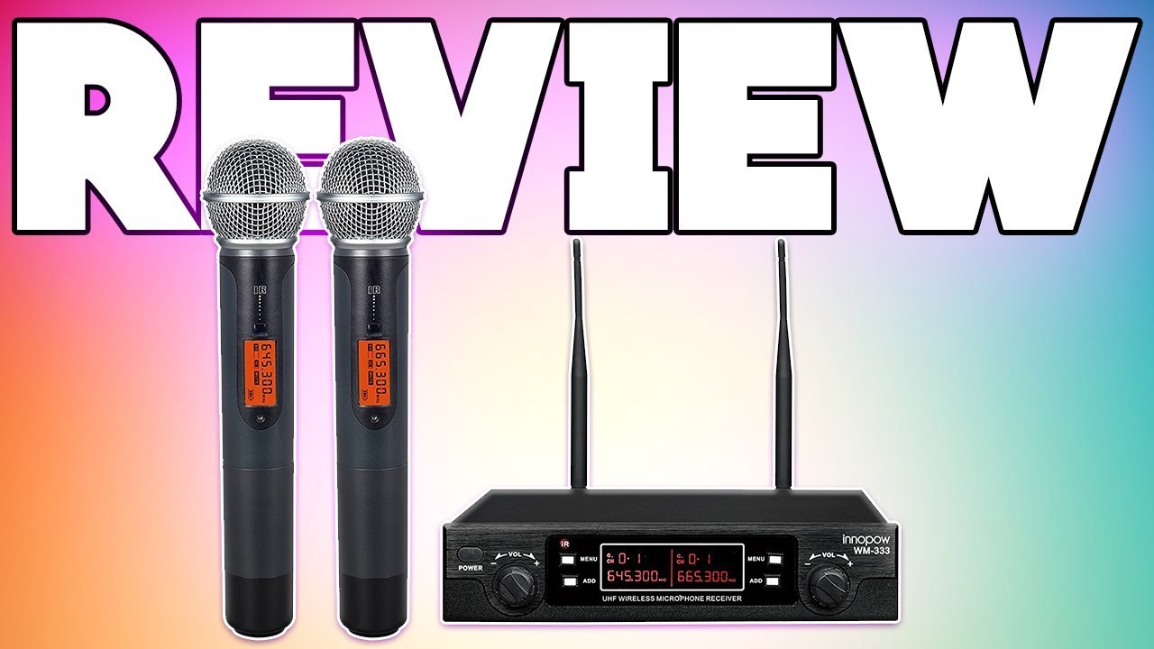 innopow dual wireless microphone review youtube. Black Bedroom Furniture Sets. Home Design Ideas