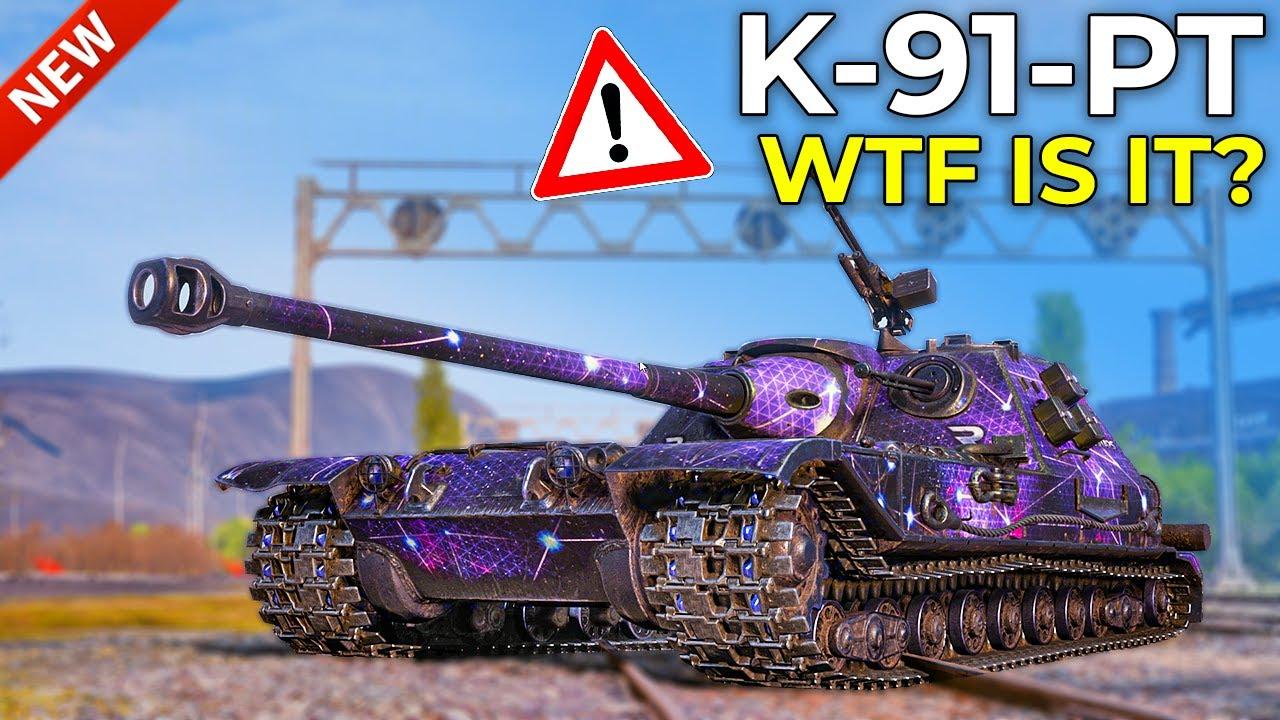 New K-91-PT is SUPER.. WEIRD?! | World of Tanks K-91-PT Gameplay