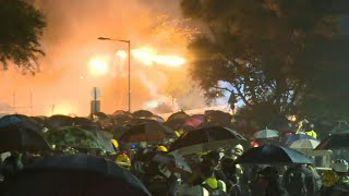 Protests continue in Hong Kong outside Chinese University | AFP
