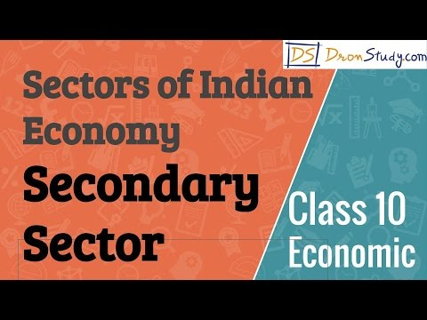 Secondary Sector - Sectors of Indian Economy  : CBSE Class 10 X Economics
