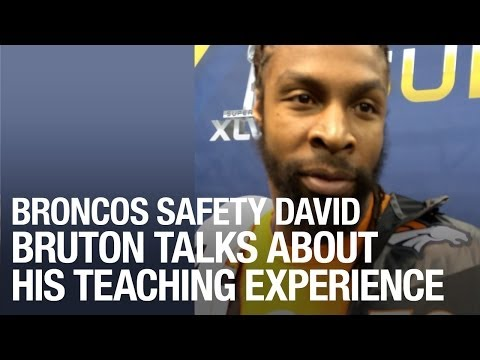 Broncos Safety David Bruton Talks About His Teaching Experience at Super Bowl 48 Media Day