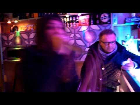 Italo karaoke at Santa chiara cafe. love Napoli