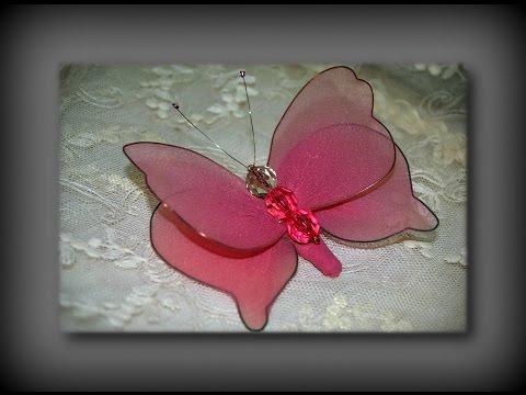 Бабочка своими руками из того что есть дома! Nylon Stocking Butterfly Tutorial. Видео урок!