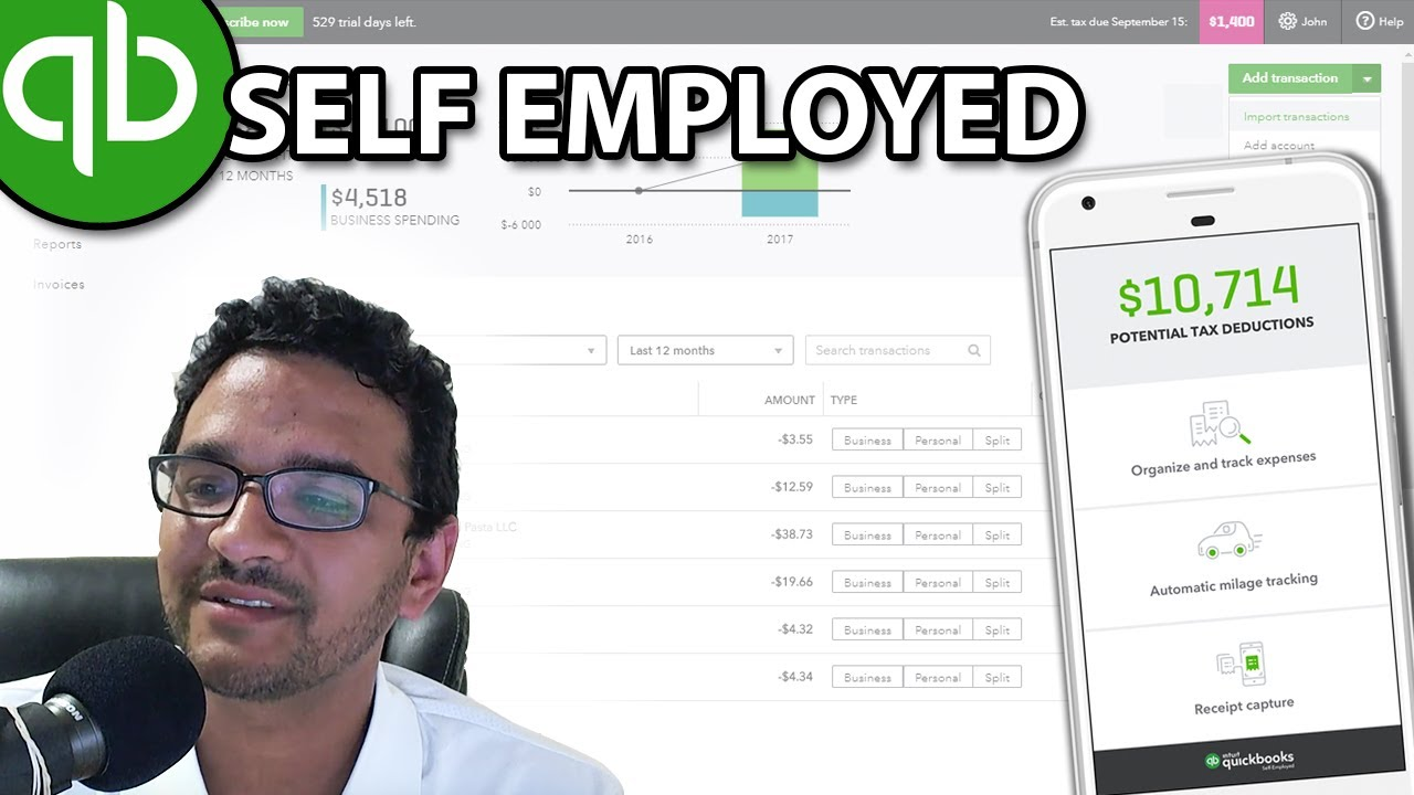 QuickBooks Self-Employed - Complete Tutorial (September 2018)
