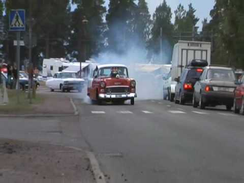 Blown prostreet 55 chevy burnout