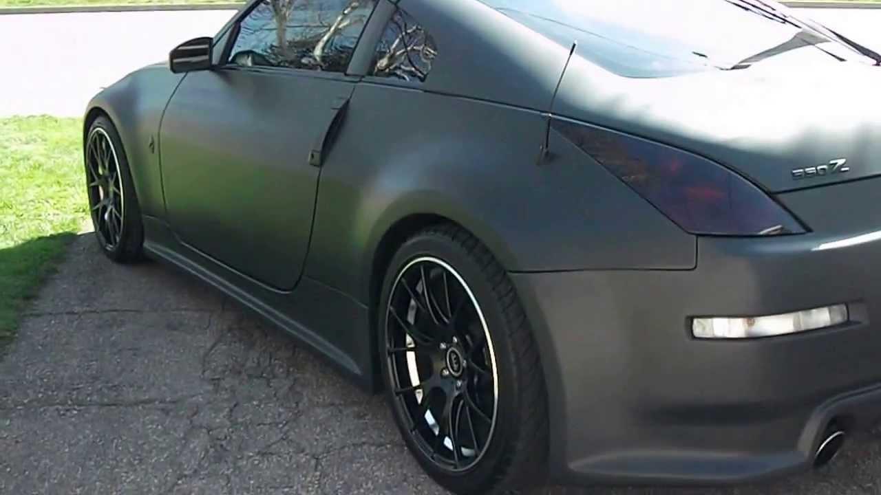 Nissan 350z Black MATTE BLACK NISSAN 350z