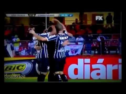 São Paulo 1 x 2 Corinthians, GOLS - 1° Jogo Recopa 2013