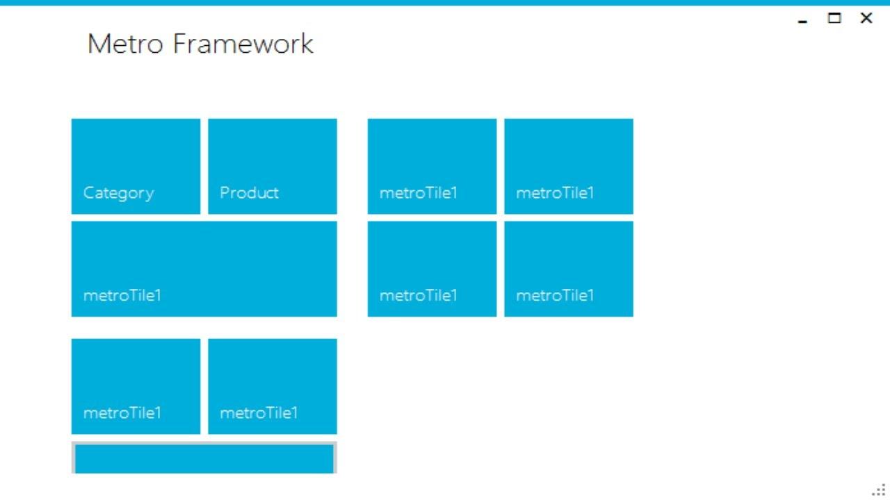 metro framework c#