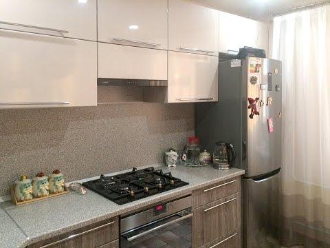 Угловая кухня с выступом в углу — Кухни на заказ