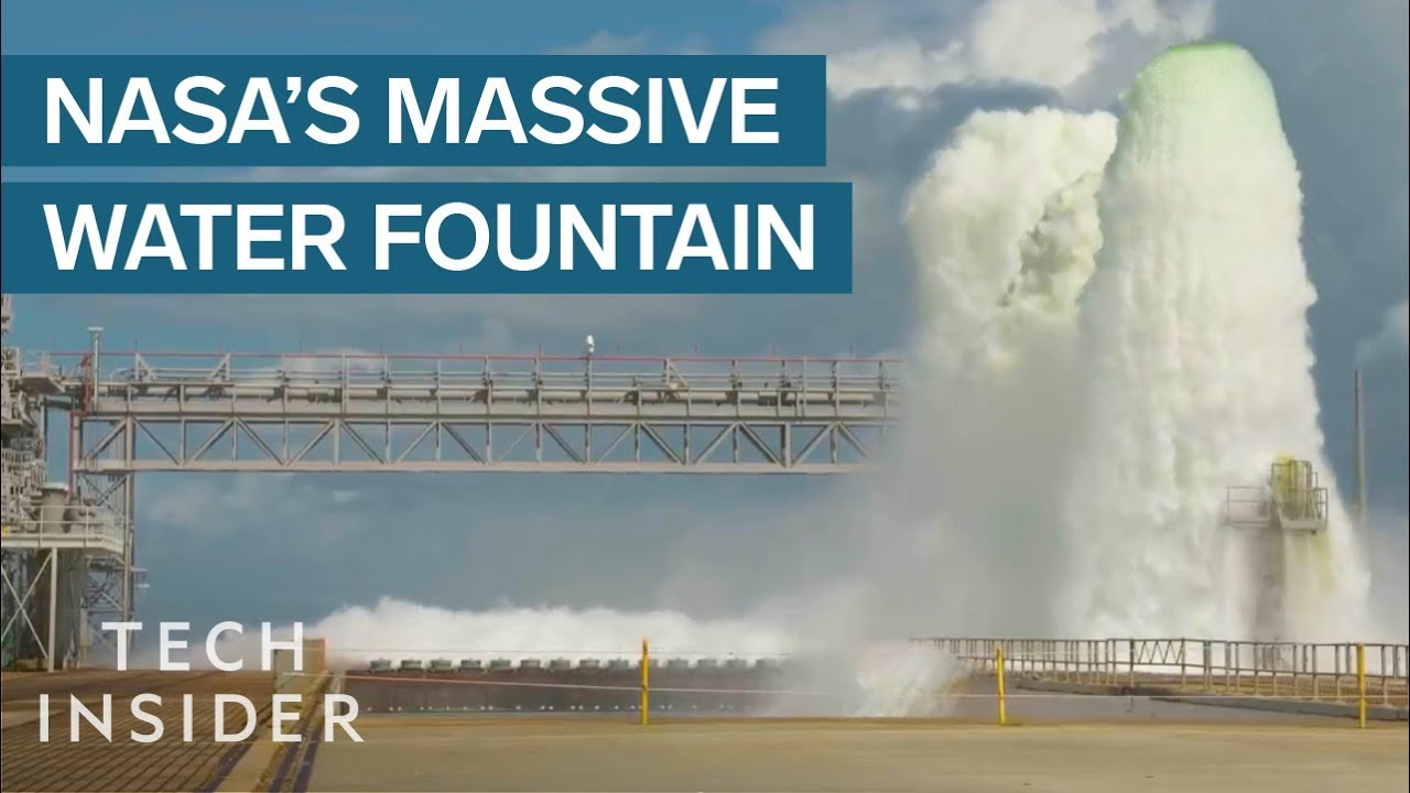 NASA's 60 Second Test Blasts Half A Million Gallons Of Water Into The Air