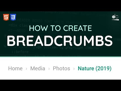 How to Create Breadcrumbs for Websites using HTML & CSS - Web Design Tutorial thumbnail