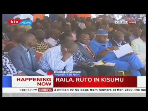 DP Ruto and Raila Odonga attends the Installation of the new Arch Bishop Philip Anyolo in Kisumu