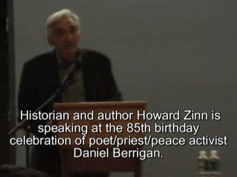 Howard Zinn Honors Daniel Berrigan