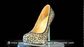Beautiful Crystal Wedding Shoes - Unique Leopard Design