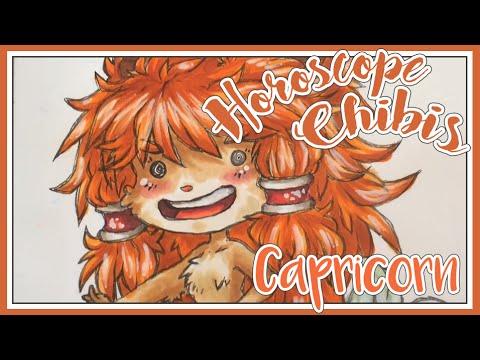 Chibi Zodiac/Horoscope COPIC Marker Art - Capricorn