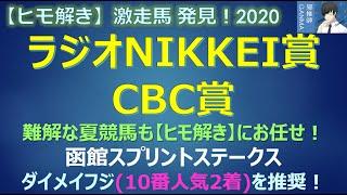 <ラジオNIKKEI賞&CBC賞>【ヒモ解き】激走馬 発見!2020
