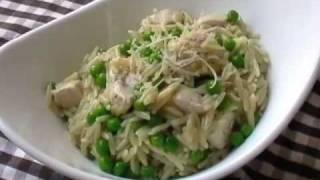 Chicken Asiago Orzo Pasta